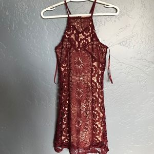 Womens Maroon Dress